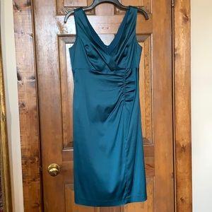 Donna Ricco NY Teal Stretch Satin Evening Dress 8